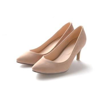 パンプス - Outletshoes Vライン ハイヒール パンプス 痛くない 黒 大きいサイズ 歩きやすい 7cm ヒールレディース 靴 パーティ結婚式フォーマルポインテッドトゥ オフィス お呼ばれ スエード ビジネス 小さいサイズ 入学式 シューズ 靴 シンプル ベーシック