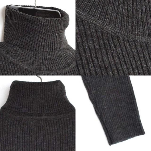 ニット・セーター - Style Block MEN ニット セーター タートルネックニット リブ ストレッチ 7ゲージ 長袖 アクリル トップス メンズ ホワイト ブラック ワインネイビー チャコール 冬先行