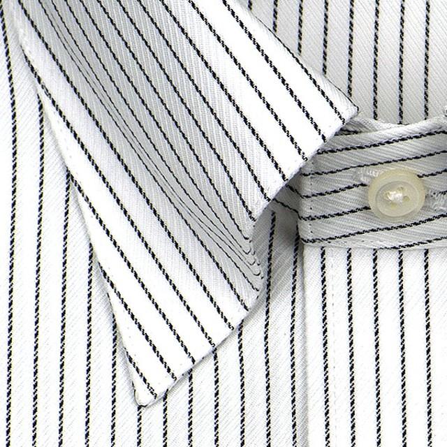 ワイシャツ - ワイシャツの山喜 ★新商品★【CHOYA SHIRT FACTORY】日清紡アポロコット長袖・綿100%・形態安定・ピンストライプ・スナップダウンシャツCHOYAシャツ/ドレスシャツ/ワイシャツ/Yシャツ/ビジネスシャツ/蝶矢シャツ(cfd713-455)