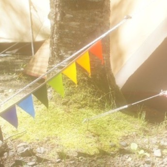 布ガーランド 90cm フラッグ 旗 キャンプ&パーティー レインボー
