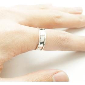 リング - YUKATANゆかたん シルバー925 メンズ レディース リング シンプル 溝が一周彫られた指輪 アクセサリー