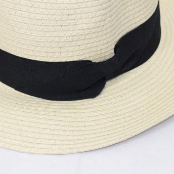 ハット - CELL ペーパー中折れハット HAT 帽子 リボンハット ツバ広帽子