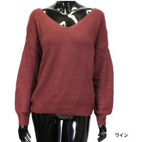 ニット・セーター - CELL バックネジレニット プルオーバー ドルマン ニット トップス セーター 長袖 シンプル レディース