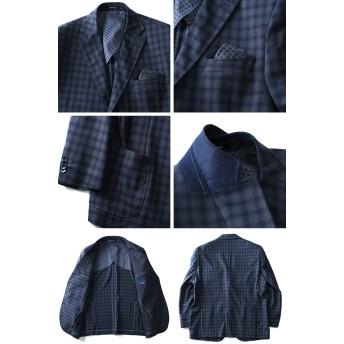 テーラードジャケット - 大きいサイズの店ビッグエムワン 【大きいサイズ】【メンズ】SARTORIA BELLINI 2ツ釦ウール混チェックジャケット azjk3417603