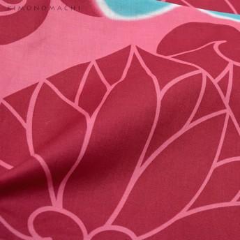 浴衣 - KIMONOMACHI 京都きもの町オリジナル 浴衣単品「ピンクパープル 葵」S、フリー レトロ 女性浴衣 花火大会、夏祭り、夏フェスに 古典大正大人かわいい赤