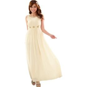 ドレス - GOLDJAPAN 大きいサイズ専門店 【L-3L】ロング丈シフォンドレス大きいサイズ レディース ドレス パーティードレス ロング ロング丈 スレンダーライン ロングドレスシフォン ウエストライン ビジュー スパンコール 大 LL 2L 3L 4L XL XXL L