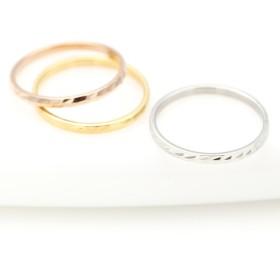 リング - アクセサリーショップPIENA レディースリング 指輪 ステンレス 低アレルギー 傷つきにくい ピンキーリング シンプル 槌目リング ハンマーワーク 煌きデイリーオシャレ