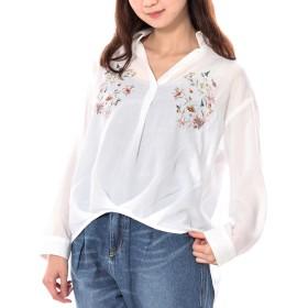 ブラウス - s.i.p エステルビエラ胸刺繍スキッパーシャツ