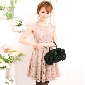 7d76ebcea6424 ドレス - PourVous ワンピース・結婚式・LA パーティードレス 花柄 コットン レース フォーマル