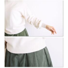 ニット・セーター - Sawa a la mode ピュアカラーとたゆむ袖。レディース ファッション トップス ニット 長袖 ミディアム丈 ベージュ フリーサイズ M L LL MサイズLサイズ LLサイズ 9号 11号 13号 15号 サワアラモード Sawa a la mod