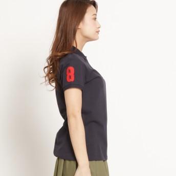 GIORDANO ジョルダーノ 3Dライオン刺繍ポロシャツ レディース