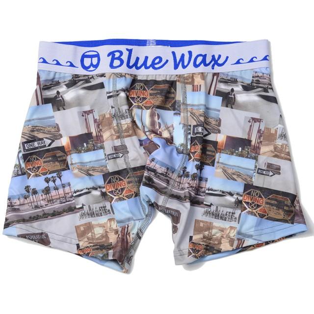 ボクサーパンツ - SILVER BULLET Blue Wax【ブルーワックス】Collage ボクサーパンツ/全1色【アンダーウェア ボクサーパンツ サーフ メンズBITTER ビター】
