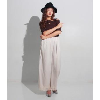 パンツ・ズボン全般 - ANAP 裾レースワイドパンツ