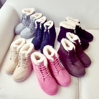 ブーツ - ZNEWMARK レースアップムートンブーツ/ブーツ/シューズ/靴/フラット/レースアップ/ムートン/ムートンブーツ/アクセサリー/ファー/レディース/レディス/ファッション/ジニューマーク/韓国