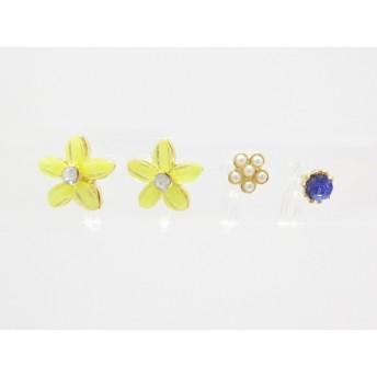 イヤリング - LECOEURROSE 【樹脂製】お花をモチーフとしたノンホールピアス4個セット【イヤリング】【イアリング】