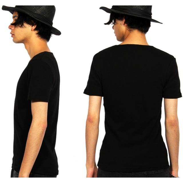 シャツ - 8(eight) Tシャツ メンズ 半袖 Vネック新作 無地 半袖 Tシャツ インナー カットソーコットン ブラック 黒 ホワイト 白M L サロン系キレカジ系 アメカジ系 に◎8(eight) エイト 8/春