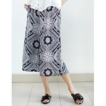 パンツ・ズボン全般 - Re: EDIT バンダナ柄で仕上げた旬のスカーチョ。 バンダナ柄ワイドパンツ ボトムス/パンツ/ワイドパンツ・ガウチョパンツ