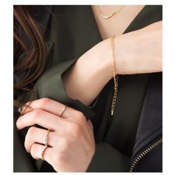 ブレスレット・バングル - CREAM-DOT ブレスレット レディース 2連 チェーン 喜平チェーン ゴールド シルバー シンプル 流行 ブランド プレゼント アクセサリー ギフト