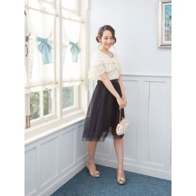 マフラー - 夢展望 [ドレス用フラワーレース×シフォンケープNLCS]