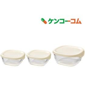 ハリオ 耐熱ガラス製保存容器 3個セット KST-2012-OW ( 3コ入 )/ ハリオ