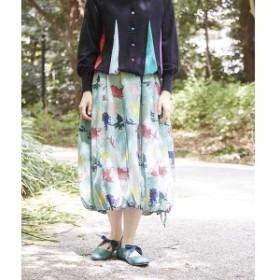 ホコモモラ(JOCOMOMOLA)/DRAGONES PT ドラゴン柄 裾ギャザー バルーンスカート
