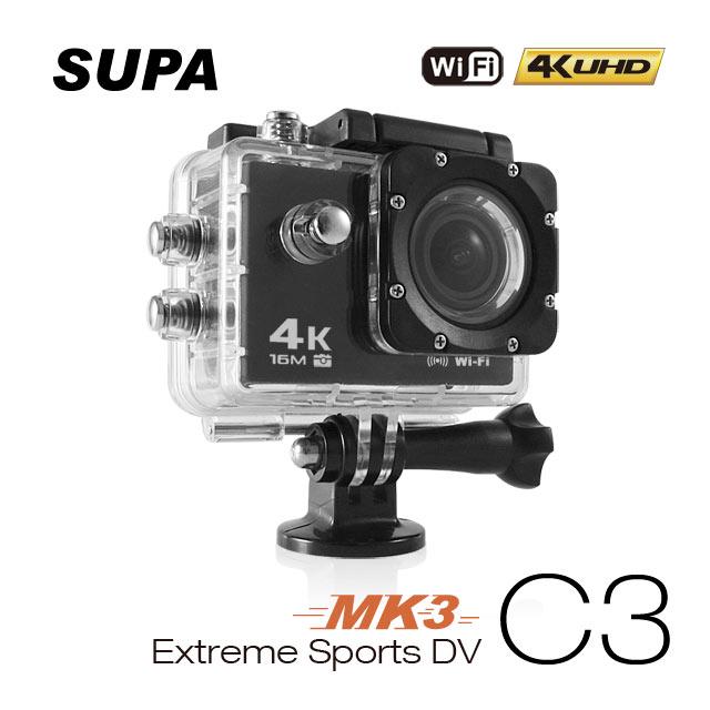 贈32卡-速霸 C3 三代-MK3 4K/1080P超高解析度 WiFi 極限運動 機車防水型行車記錄器