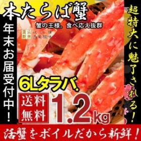 タラバガニ たらば蟹 脚 足 ボイル 極太 6L (1肩1kg強) 冷凍 北海道加工 たらば蟹 送料無料 かに ギフト プレゼント お買い得