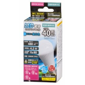 LED電球 ミニクリプトン形 E17 40形相当 広配光 防雨 密閉器具・断熱材施工器具対応 昼白色_LDA4N-G-E17 IH12 06-1884