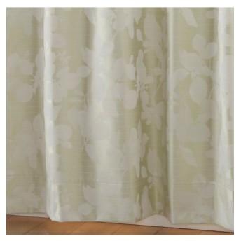 【1cm単位オーダー】リーフ柄遮熱。防音。99.99%遮光。形態安定カーテン(1枚) ドレープカーテン(遮光あり・なし)