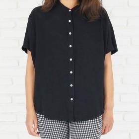 【再販】シンプルなドルマンシャツ <ブラック>