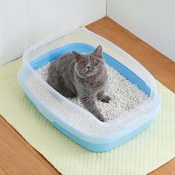 マーカーハーフカバートイレ (猫用 トイレ) ピンク