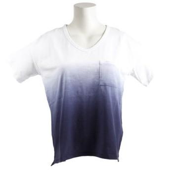 エルケクス(ELKEX) V-NECK gradation Tシャツ 864EK8UK5824NVY (Lady's)