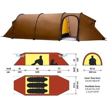 【送料無料】HILLEBERG(ヒルバーグ) テント Keron 3 GT Sand Sand 12770011116003
