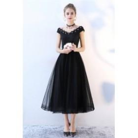 2018新作 レディース高級上質ドレスお洒落な黒色レースロングドレス結婚式 二次会 披露宴 パーティードレス大きさサイズあり BL595