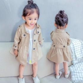 キッズ 女の子 シャツ コート 春夏 かわいい  トレンチ トレンチコート 2色