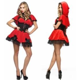 赤ずきん ハロウインコスプレ大人 不思議の国のアリス ミッキー 赤ずきん 魔女 天使 コスチューム 仮装 Halloween