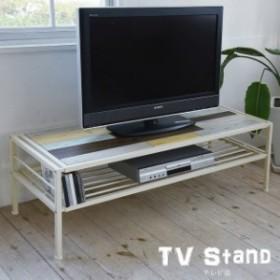 BBファニシング CHROME(クローム) テレビ台 天然木 北欧 木製 ローボード AVボード 収納 CHTB-120