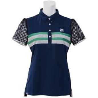 (セール)FILA(フィラ) ゴルフ レディース半袖ポロ 半袖ハイネック 半袖シャツ 757645 レディース NV