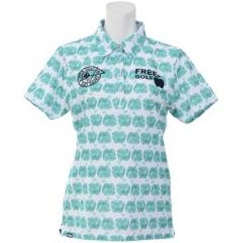 FILA(フィラ) ゴルフ レディース半袖ポロ 半袖ハイネック 半袖シャツ 757612 レディース GN