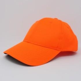 【 USED 】古着 帽子 バックスナップ ベースボールキャップ フリーサイズ オレンジ BBキャップ スポーツキャップ 小物
