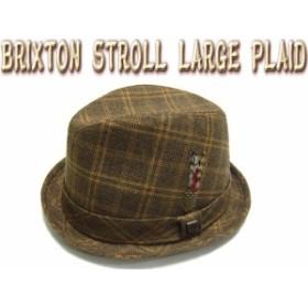 BRIXTON ( ブリクストン ) Stroll Fedora Brown Large Plaid ( スケートボード スケボー 帽子 ハット 麦わら ストロール フェドラー )