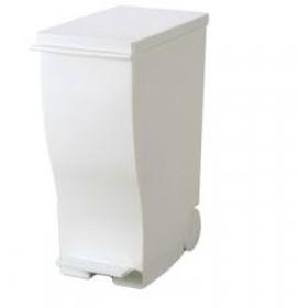 I'mD クード スリムペダル#30 ホワイト   アイムディー ゴミ箱 キャスター