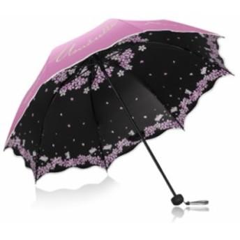 「即納」傘 レディース 8本骨 オシャレ 桜 折りたたみ 晴雨兼用 日傘 軽量 紫外線 遮光 遮熱 プレゼント 手動開閉 傘カバー付き 超撥水