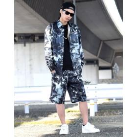 シャツ - Third enterprise セットアップ メンズ 大きいサイズ 夏 春 シャツ 長袖 アロハシャツ b系 ファッション