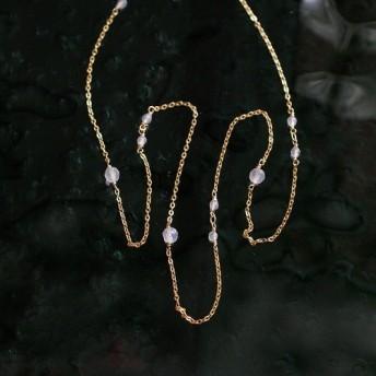 長さ選択式:40/50/60 chain: WhiteChalcedony(necklace)ホワイトカルセドニー