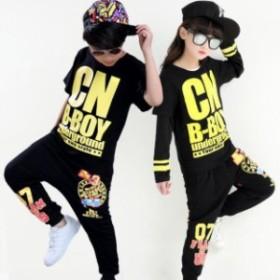 子供ダンス 衣装 キッズダンス衣装セットアップ キッズ ヒップホップ ファッション キッズ ダンス トップス ダンス HIPHOP