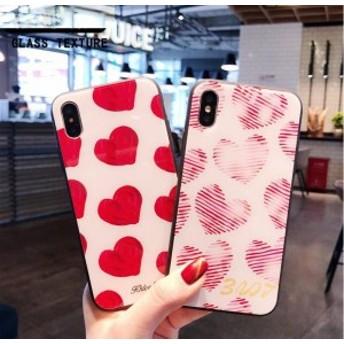 2018新作 iPhoneX iPhone8 iPhone7Plus iPhone6ケース 全機種対応スマホケース可愛いハート柄カップルiPhoneケースMO195