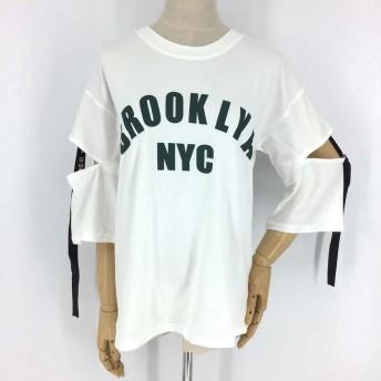Tシャツ - Miniministore ロゴtシャツ 半袖 プリントtシャツ ゆったり トップス レディース 春夏 カットソー 人気