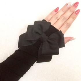 a8c47f99c050 イヴサロモン yves salomon 手袋 レディース 美品 黒×ブラウン レザー ...