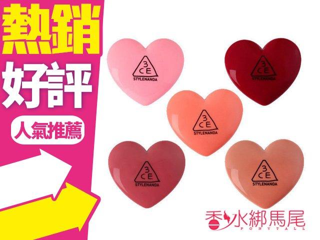 ◐香水綁馬尾◐ 韓國 3CE 心型馬卡龍唇膏 1.4g 5款可選 潤唇膏 唇蜜 超可愛!!秋冬新品!